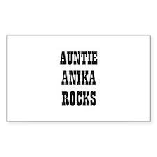 AUNTIE ANIKA ROCKS Rectangle Decal