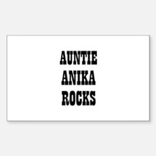 AUNTIE ANIKA ROCKS Rectangle Decal