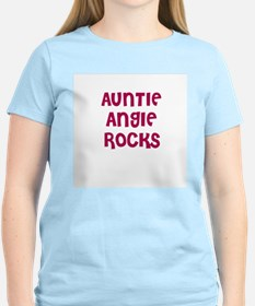 AUNTIE ANGIE ROCKS Women's Pink T-Shirt