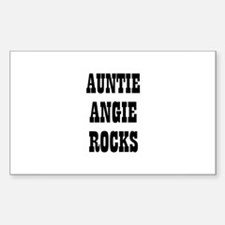 AUNTIE ANGIE ROCKS Rectangle Decal