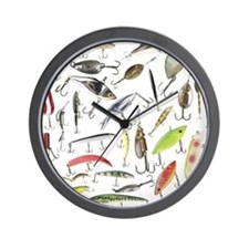 Lucky Lures Wall Clock