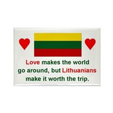 "Love Lithuanians Magnet (3""x2"")"
