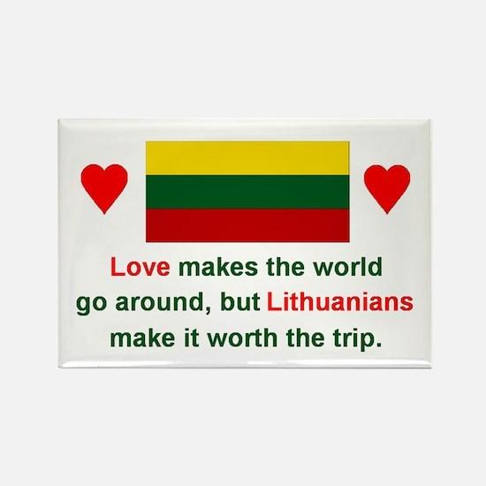"""Love Lithuanians Magnet (3""""x2"""")"""