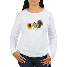 Squirrel Sunflower T-Shirt