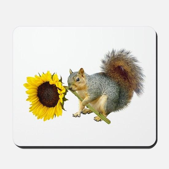 Squirrel Sunflower Mousepad