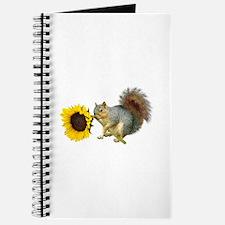 Squirrel Sunflower Journal