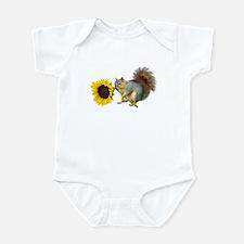 Squirrel Sunflower Infant Bodysuit