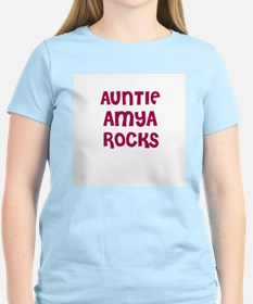 AUNTIE AMYA ROCKS Women's Pink T-Shirt