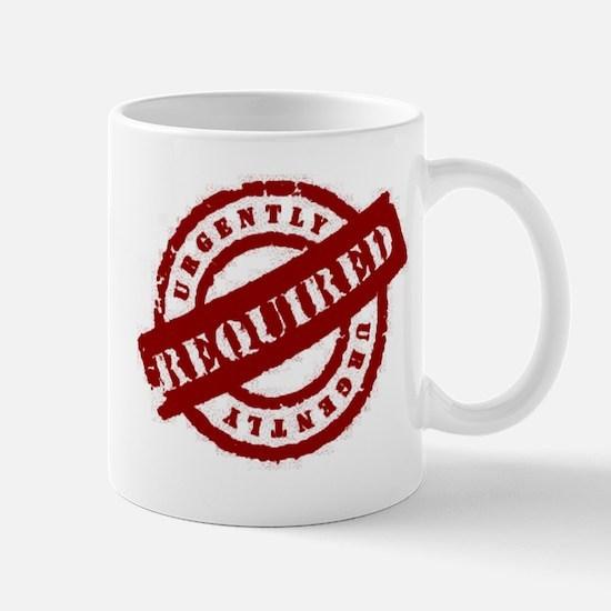 urgently required red Mug