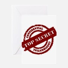 Top Secret Red Greeting Card