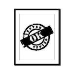 Tested Ok Black Framed Panel Print