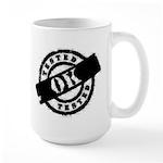 Tested Ok Black Large Mug
