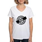 Tested Ok Black Women's V-Neck T-Shirt