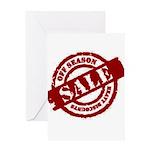 Off Season Sale red Greeting Card