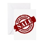 Off Season Sale red Greeting Cards (Pk of 10)