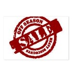 Off Season Sale red Postcards (Package of 8)