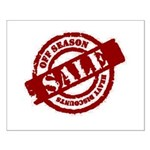 Off Season Sale red Small Poster