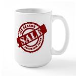 Off Season Sale red Large Mug