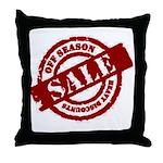 Off Season Sale red Throw Pillow