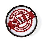 Off Season Sale red Wall Clock