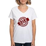 Off Season Sale red Women's V-Neck T-Shirt