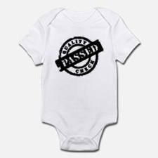 quality check passed black Infant Bodysuit