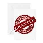 Permission Granted red Greeting Cards (Pk of 20)