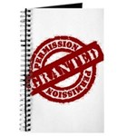 Permission Granted red Journal