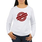 Permission Granted red Women's Long Sleeve T-Shirt
