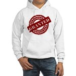 Permission Granted red Hooded Sweatshirt