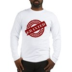 Permission Granted red Long Sleeve T-Shirt