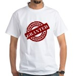 Permission Granted red White T-Shirt