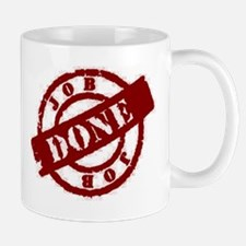 Job Done red Mug