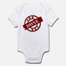 Job Done red Infant Bodysuit