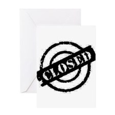 Closed black Greeting Card