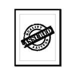 Quality Assured black Framed Panel Print