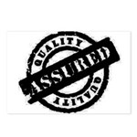 Quality Assured black Postcards (Package of 8)
