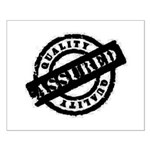 Quality Assured black Small Poster