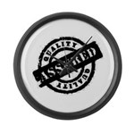 Quality Assured black Large Wall Clock