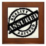 Quality Assured black Framed Tile