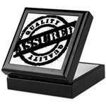 Quality Assured black Keepsake Box