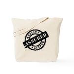 Quality Assured black Tote Bag