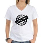 Quality Assured black Women's V-Neck T-Shirt
