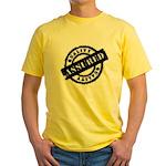Quality Assured black Yellow T-Shirt