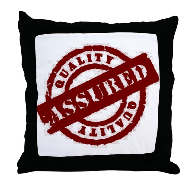 Quirky Throw Pillows : Quality Assured red Throw Pillow by Dirtybunny