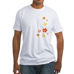 orange-power-flowers Fitted T-Shirt