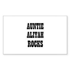 AUNTIE ALIYAH ROCKS Rectangle Decal