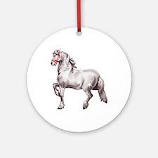 Percheron Draft Horse Ornament (Round)