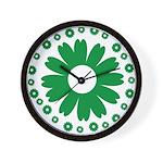 Sunflowers green Wall Clock
