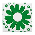 Sunflowers green Tile Coaster